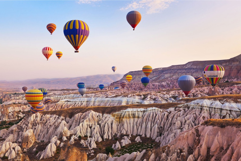 Check out Cappadocia, one of Turkey's top tourist destinations