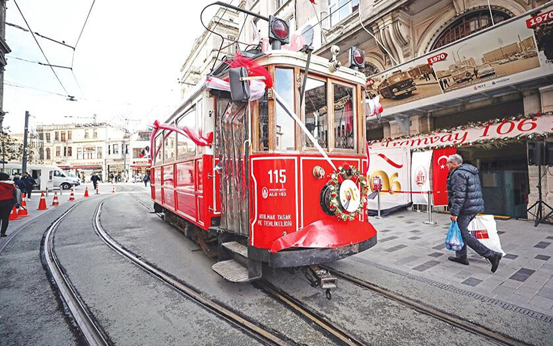 Anniversary Celebration for Istanbul's Historic Tram