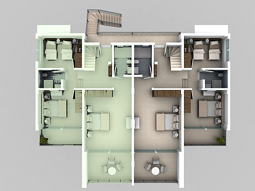 Property in turkey second roof floor duplex plans for Duplex apartment plans