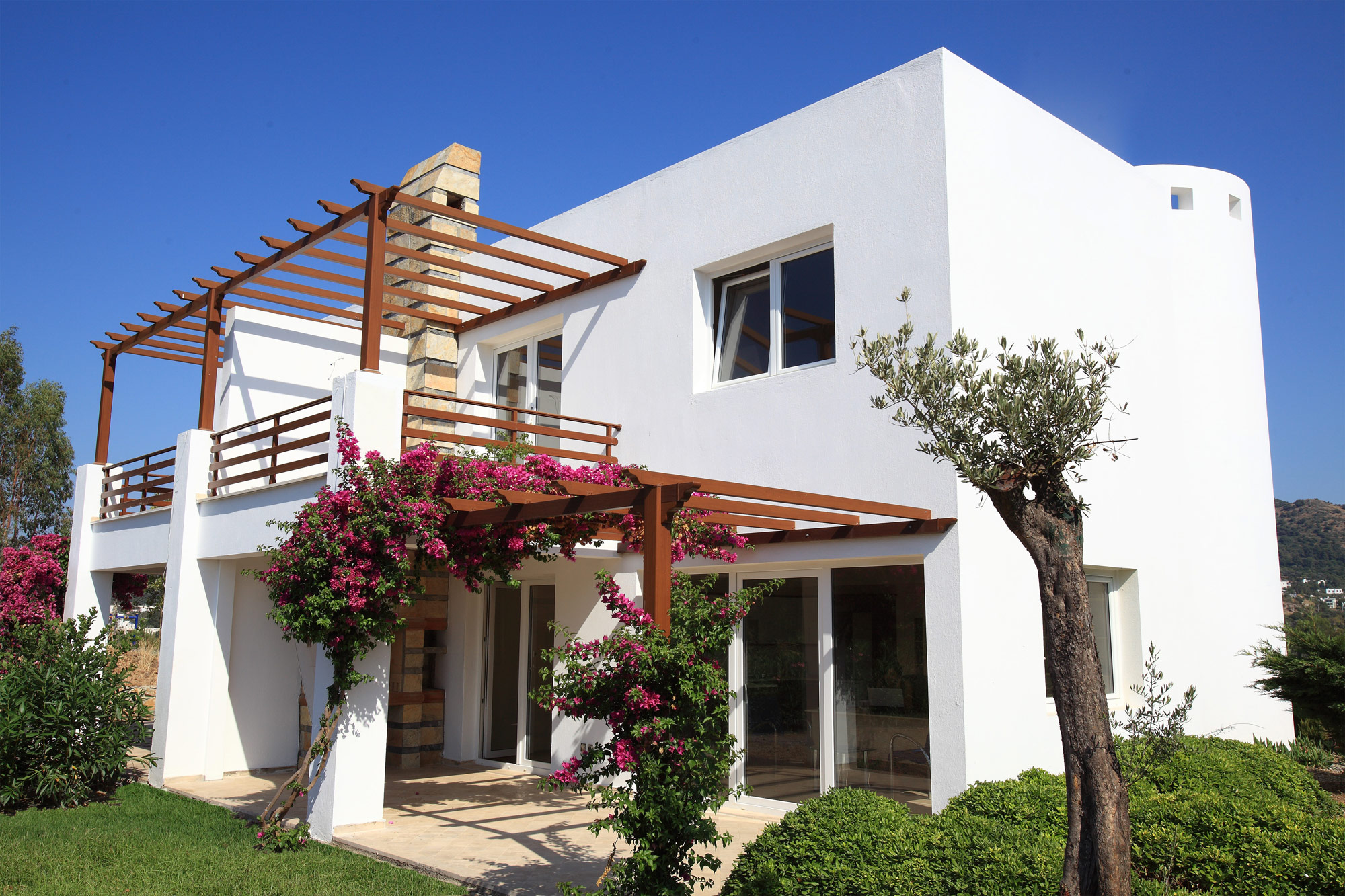 panoramic sea views villa gokcebel bodrum for sale 100m to the beach